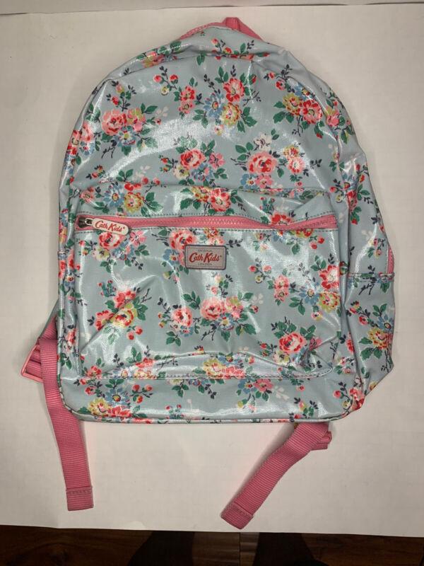 Cath Kids Original London Backpack Floral Design Pink Teal Book Bag Used