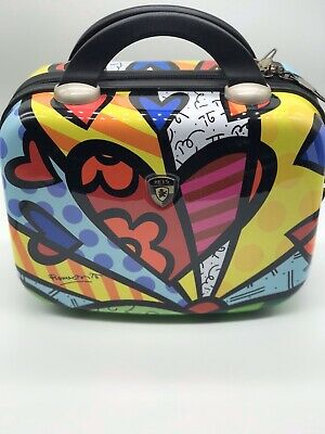 Heys America Britto Beauty Case Small Travel Cosmetic Utility Colorful Suitcase
