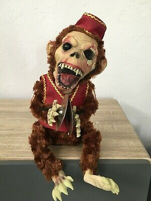 SPIRIT MONKEY CHIMES Animated, Zombie, Evil, Screaming, Cymbals, Halloween, RARE