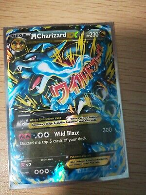 Mega Charizard EX 108/106 Flash Fire Blue Fire Secret Rare Pokemon!