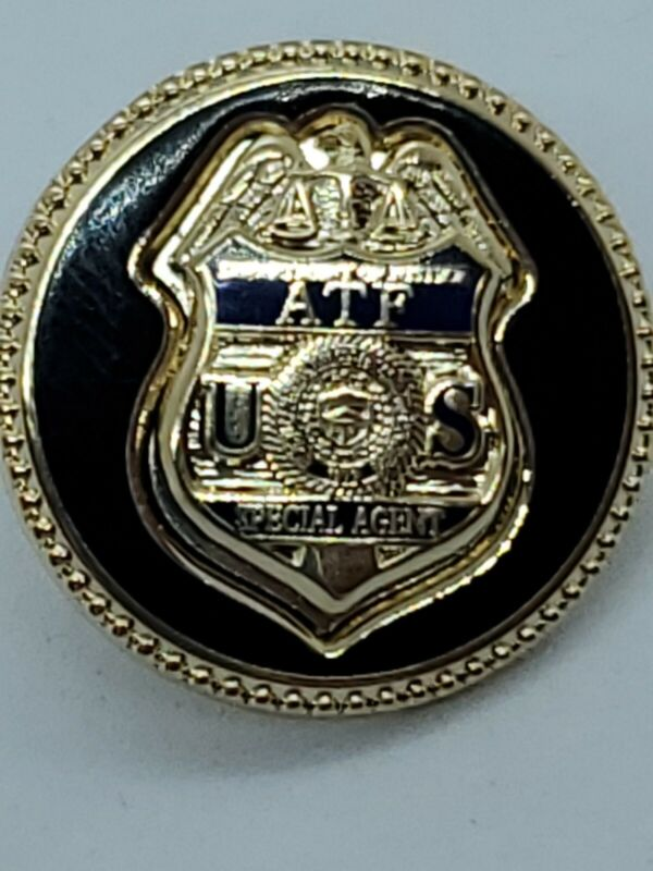 Bureau of  Alcohol Tobacco Firearms Explosives ATF  lapel pin New Style  New