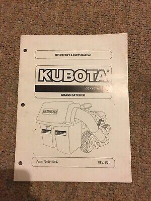 Kubota Gck40t Grass Catcher Operators Manual - 16 Pages