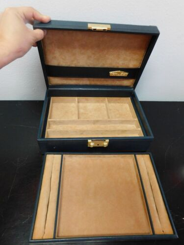 Blue Rolex jewelry case box leather with extra tray 51.00.01 free shipping
