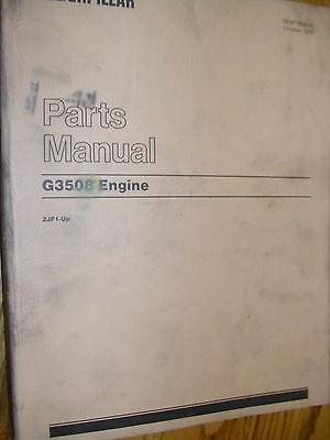 Cat Caterpillar G3508 Parts Manual Book Catalog Engine Natural Gas 2jf1 Up List