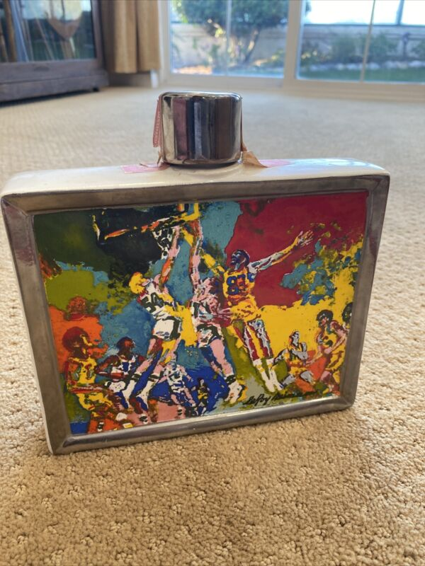 Very Cool Vintage Satinwood Blended Whiskey Decanter by LeRoy Neiman Sports Comm