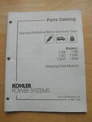 Kohler Parts Catalog Standby Gen Set 7.5a 7.5r 7.5c 7.5cf 7.5rf 7.5rh Rotating