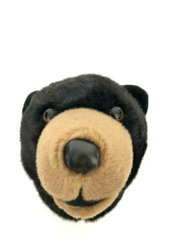 Brown Bear Plush Toy Stuffed Animal Decor Baby Nursery Kid Room 3-D Wall Hanging
