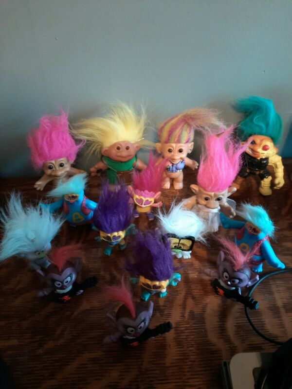 15 Piece Lot of Assorted TROLL Doll Figures