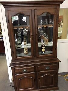 Solid maple liquor cabinet