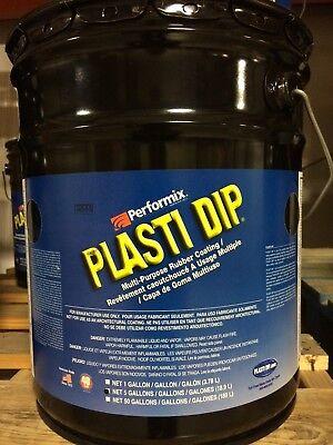 Performix Plasti Dip- Rubber Dip 5 Gallon Matte Black Dip