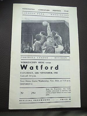 Workington V Watford 1966/7