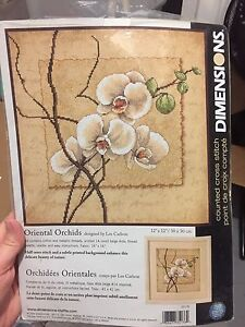 Orchid needlepoint