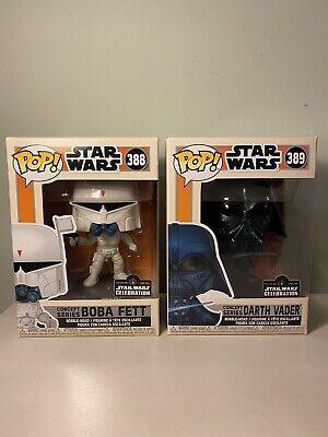 Funko Pop Concept Series Darth Vader & Boba Fett Star Wars Celebration Sticker
