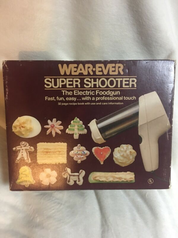 WearEver SUPER SHOOTER Electric Cookie Press Nice Wear Ever Cutter