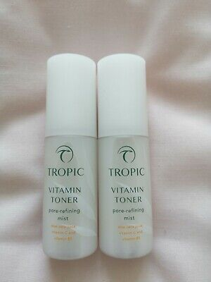 Tropic Travel Size Vitamin Toner Pore Refining Mist x 2 (30ml) Brand...