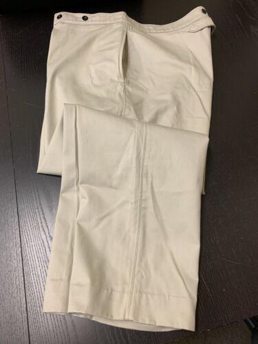 "Khaki 1890s U.S. Army Pattern Military Trousers - Teddy Roosevelt, 48"" Waist"
