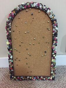 Button covered cork board