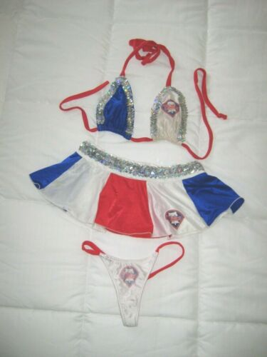 Phillies Exotic Dancer Stripper 4-Piece Outfit