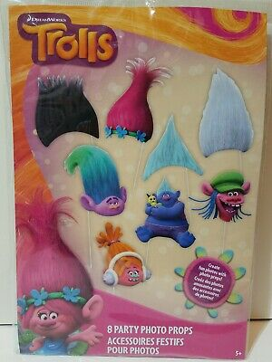 Brand New Trolls Photo Booth Props 8 Styles Birthday Party Activity](Birthday Party Activities)