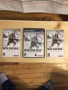 Metal Gear Solid 3 PS2 and MGS 2 PS2