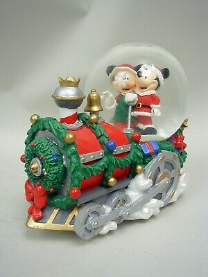 Mickey & Minnie Mouse Christmas Train Musical Snow Globe by Disney