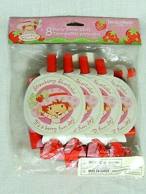 STRAWBERRY SHORTCAKE - 8- PARTY BLOWOUTS- PARTY SUPPLIES