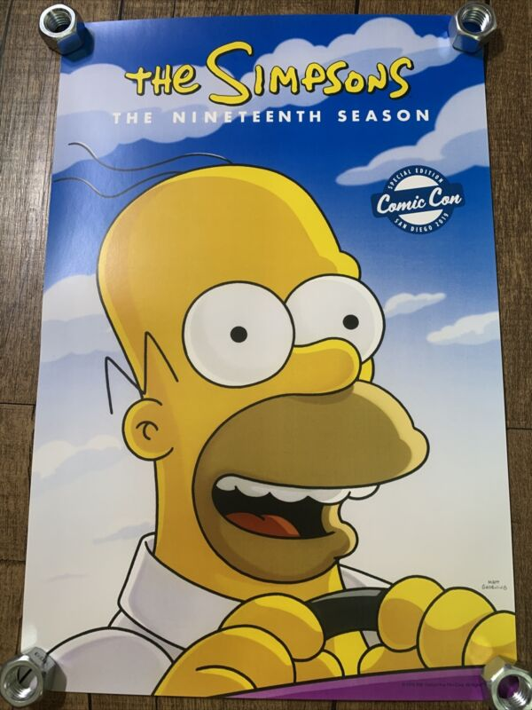 2019 SDCC THE SIMPSONS HOMER 19th Season Comic Con EXCLUSIVE FOX Poster