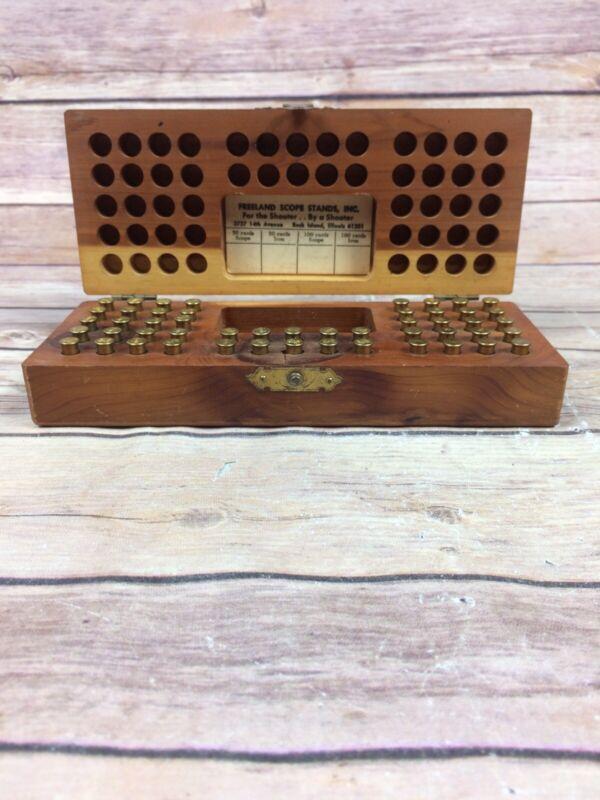 Vintage Al Freeland Small Bore Competition Wood Ammo Box