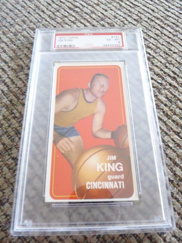Jim King 1970 Topps Tall Boy #131 Basketball Card PSA Graded Slabbed EX-MT 6
