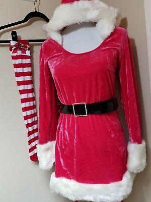 Medium La Vie En Rose Santa Clause Outfit Halloween Christmas Red White - La Vie En Rose Halloween Costumes