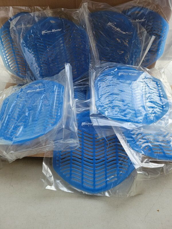 New 12 Pack Urinal Screen Fresh blue frost Fragranced Deodorizing, made in USA