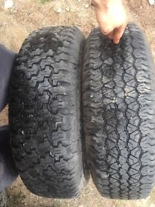 Two like new 225/75r15 tires text 902 223 2108