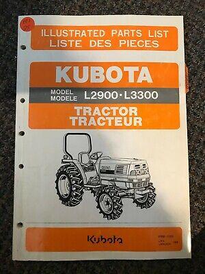 Kubota Tractor Illustrated Parts List L2900 L3300