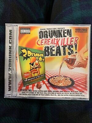 Drunken Cereal Killer Beats - Cellski, Messy Marv,Nickatina, SFC415, G Funk New!