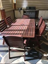 Solid Jarrah table and 6 chairs. Millswood Unley Area Preview