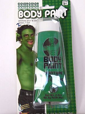 Green Body Paint makeup Costumes Halloween Party Sports Events Theater ](Sports Halloween Makeup)