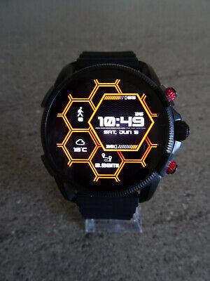 Diesel On DZT2010 Full Guard 2.5 Black Red Smart Watch - Full Boxed Package
