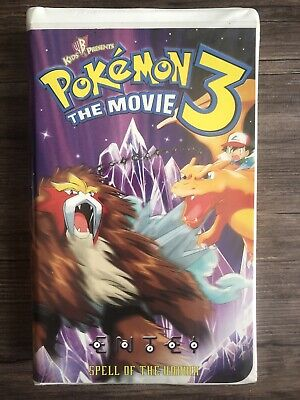 POKEMON THE MOVIE 3 Spell of the Unknown VHS Video Tape Clamshell 4Kids ANIME
