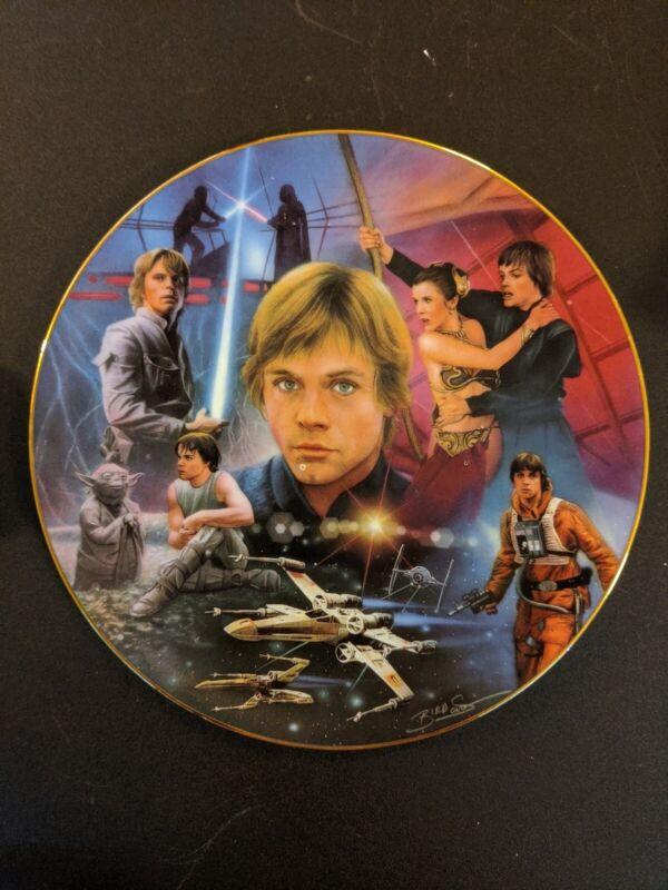 Luke Skywalker Star Wars Hamilton Plate Vintage