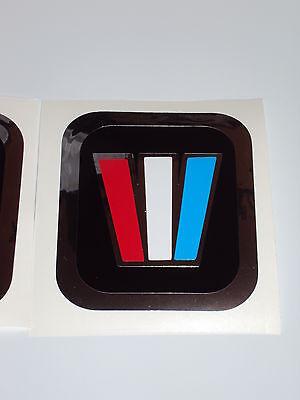 4  Wellcraft Chrome W decals  Wellcraft square Decals  Marine vinyl NOT Ink-Jet