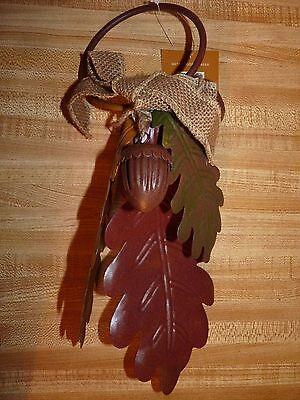 Croft & Barrow Metal Door Hanger, Harvest Season Fall, leaves Acorn bells