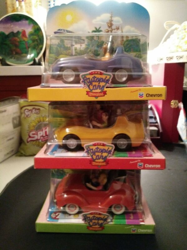 """Chevron Disney Cars """"Autotopia cars"""" Disneyland Collection. Lot of 3 New In Box"""