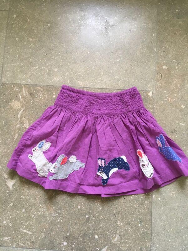 Mini Boden Baby Toddler Girl 2-3 Purple Skirt Bunnies Rabbits