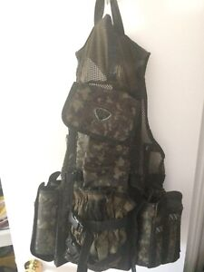 Paintball mask and tac vest for pods/hpa tank