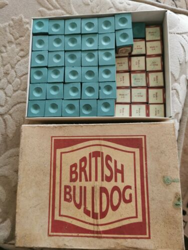 127  Vintage Billiard Snooker Pool Chalk BRITISH BULLDOG' Made in England NEW nt