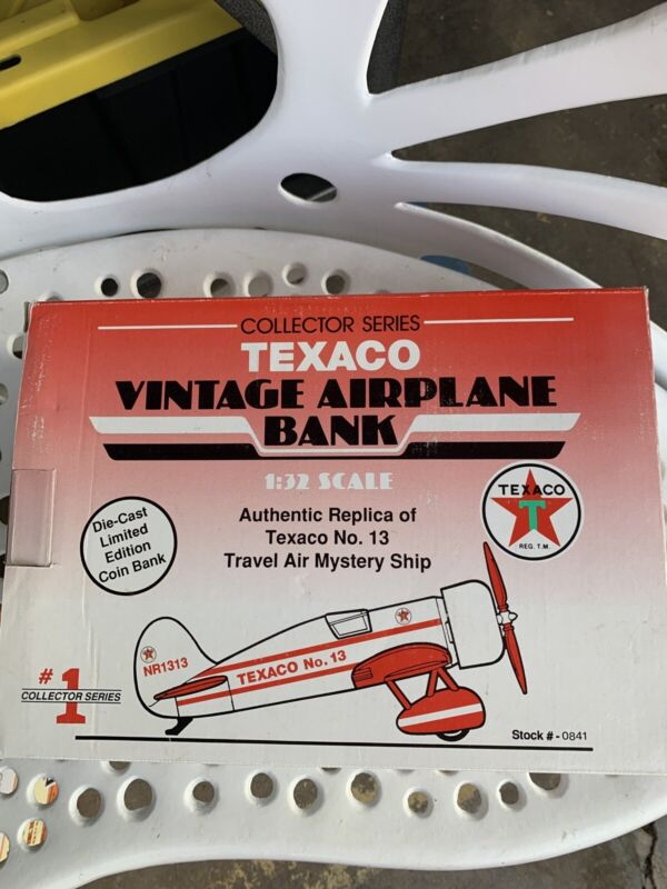 Texaco Collector Series Travel Air Mystery Ship 1:32 Scale Diecast Coin Bank New