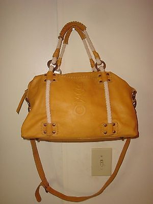 Muxo By Camila Alves Shoulder Bag Mustard Color Soft Leather Purse
