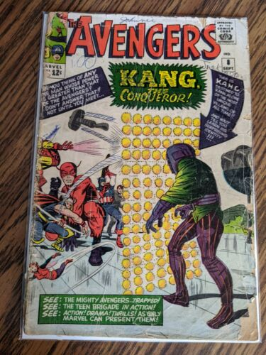 Avengers #8 1964 MAJOR KEY 1st App Kang The Conqueror MCU Reader Complete