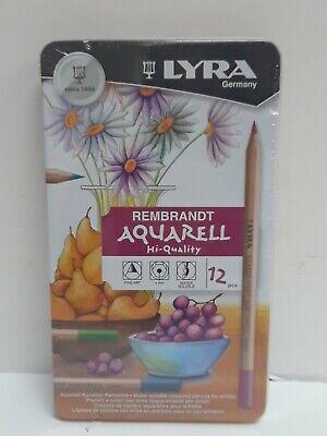 (New) Lyra Rembrandt Aquarell Hi-Quality  - 12 Color Pencils