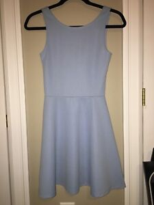 TWO Cute baby blue and black DIVIDED textured Dresses